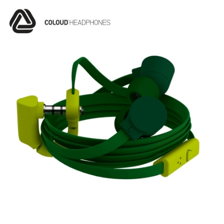 Picture of Headphones w/Mic Coloud (Pop) Blocks Army/Olive