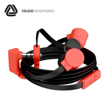 Picture of Headphones w/Mic COLOUD (POP) BLACK/RED