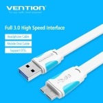 Picture of CABLE Vention VAS-A12-W050 USB3.0 USB A Male Micro B Male WHITE
