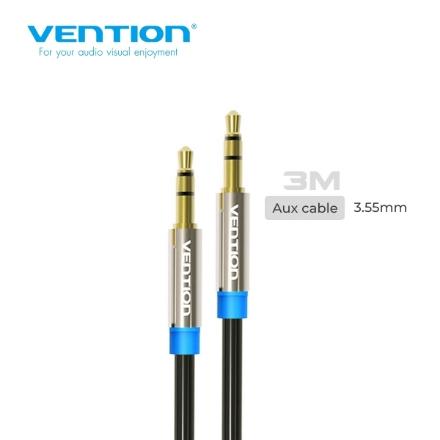 Picture of AUX Cable VENTION P350AC300-B 3.5mm 3M BLACK