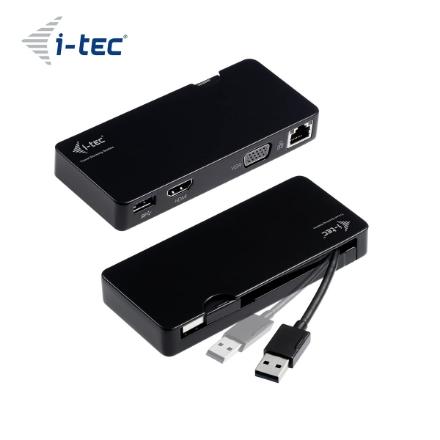 Picture of Adapter I-TEC TRAVEL DOCKING STATION USB 3.0 HDMI/VGA FullHD, 2048x1152, Gigabit Ethernet