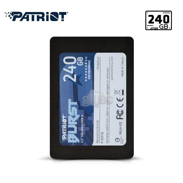 Picture of SSD Hard Drive Patriot Burst 240GB SSD PBU240GS25SSDR SATA III
