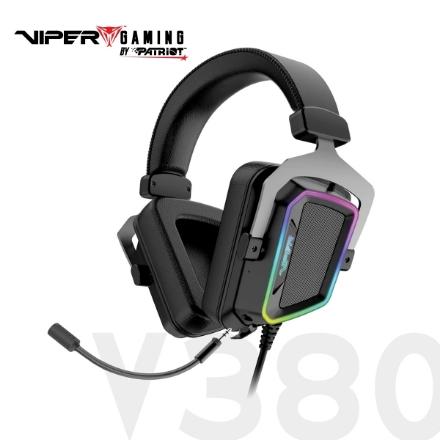 Picture of Headphone Patriot VIPER V380 PV3807UMXEK 7.1 RGB USB Black