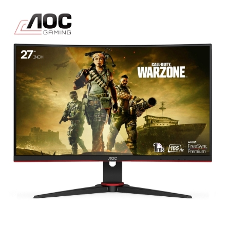 """Picture of Monitor AOC C27G2AE/BK 27"""" CURVED VA FHD 165Hz 1ms Black"""