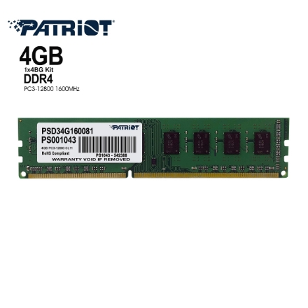 Picture of Memory Patriot PSD34G160081 4GB DDR3 1600MHz CL11