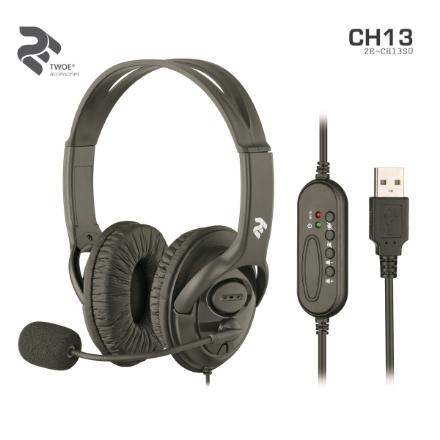Picture of ყურსასმენი 2E CH13 2E-CH13SU USB Headset Black