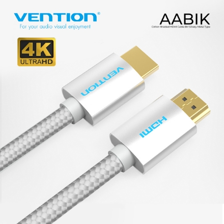Picture of 4K HDMI Cable VENTION AABIK 8M SILVER COTTON