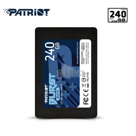 Picture of SSD Hard Drive PATRIOT BURST ELITE PBE240GS25SSDR 240GB SATA III