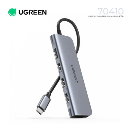 Picture of USB HUB UGREEN 70410 USB Type C to USB 3.0 HDMI TF SD Card