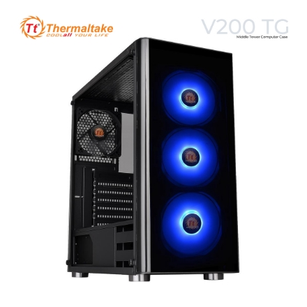 Picture of Case Thermaltake V200 TG CA-1K8-00M1WN-00 Middle Tower Black