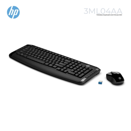 Picture of Wireless Keyboard and Mouse HP 300 3ML04AA